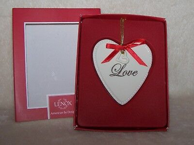 Lenox Ornament Love Expressions from the Heart NIB FREE SHIPPING ~