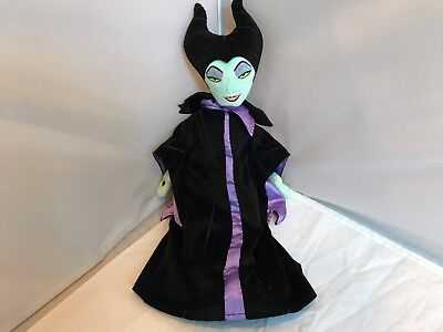 "MALEFICENT Sleeping Beauty Villain 22"" Plush Doll Disney Store Evil Queen Toy"