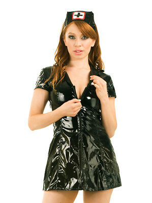 Honour Women's Dress naugthy nurses uniform costume in PVC