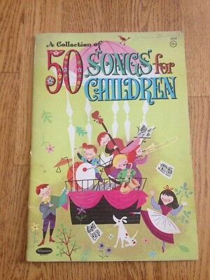 Vtg 1964 Collection of 50 Songs for Children Whitman Publishing No 2969
