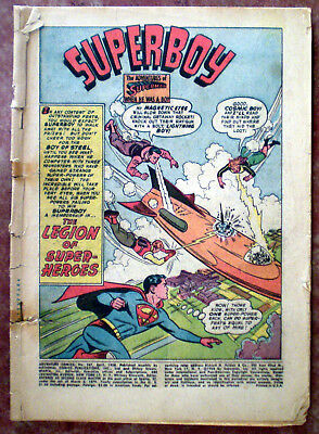 ADVENTURE #247 (April 1958) coverless; first Legion of Super-Heroes story