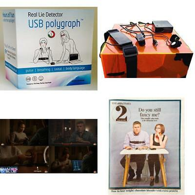Usb Polygraph Machine Real Home Lie Detector Testing Kit Truth Dare Game Party