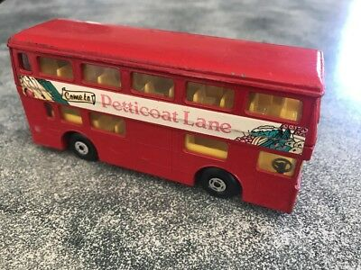 Vintage Matchbox Superkings Bus 1972 Come To Petticoat Lane