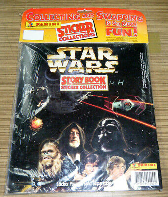 c1997 New Sealed Star Wars Story Book Sticker Collection - Panini
