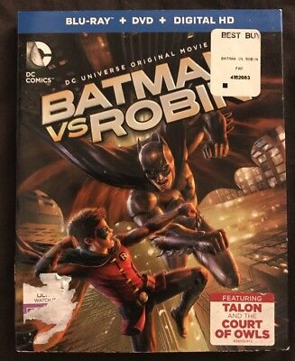 Dc Cmoics Batman Vs Robin Blu Ray Dvd 2 Disc Set + Rare Slipcover Sleeve Buy It