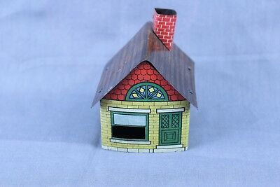 Vintage Tin Litho Candy Container House Cover  #4