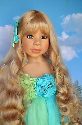 Masterpiece Dolls Princess and Pea Blonde Wig Fits Up To 21-Inch Head