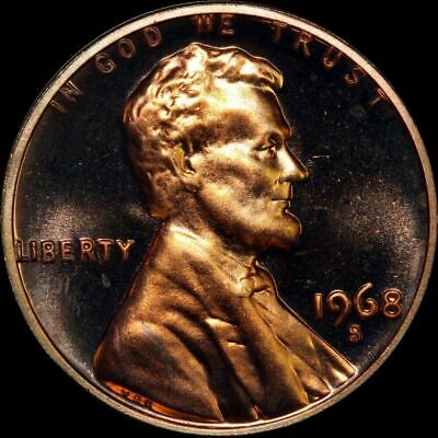 """1968 S Lincoln Memorial Cent PROOF Penny US Mint Coin in """"Beautiful"""" Condition"""