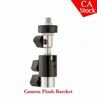 US Stock D Type Bracket Umbrella Holder Swivel Light Stand Hot-shoe Flash Light