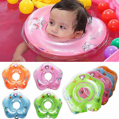 Inflatable Circle Newborn Neck Float Infant Baby Swimming Swim Ring Safety Bath
