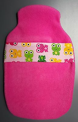 Hot Water Bottle Cover Hand Made- Fleecy Frogs