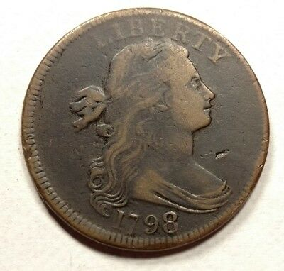 1798 S-147 R5 RARE Draped Bust Large Cent VF Details