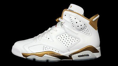 new product dae9e fefd1 Nike Air Jordan 6 VI Retro White Gold GMP Golden Moments Size 9.5. 535357-