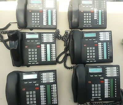 Nortel Norstar Plus Compact Ics Phone System With 6 T713E Phones