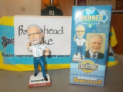 Nib 2011 Cl Werner Omaha Storm Chasers Bobblehead Trucking Co Transportation
