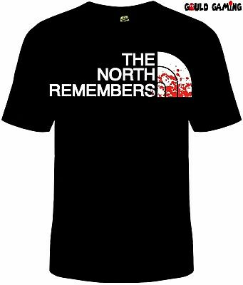 Game Of Thrones The North Remembers T-Shirt NWT Licensed & Official Stark Wolf