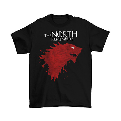 Game Of Thrones The North Remembers T-Shirt NWT Licensed & Official Stark Blood