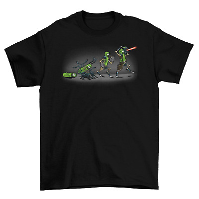 Rick and Morty Pickle Rick Evolution T-Shirt Funny TV unisex New