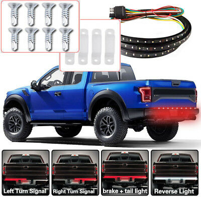 "48"" Tailgate Strip Brake Reverse Tail Light LED Bar For Chevrolet Ford Trucks"