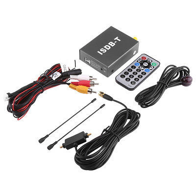 ISDB-T Receiver Car TV Tuner Media HD DVD Player MPEG-4 H.264 Decoder Antenna
