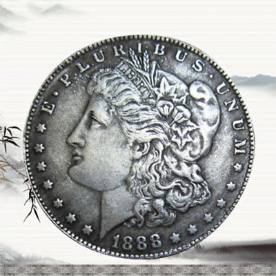 US United States Metal Morgan Dollar 1888 Silver Coin Collection Antique