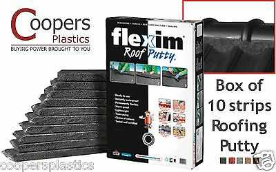 Flexim Roof Putty x10  Flexible roofing repair & renew in black red grey & brown