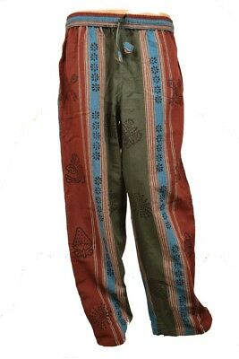 100%Thick Cotton Shyama Yoga Hippy trouser happy pants Made in Nepal Block print