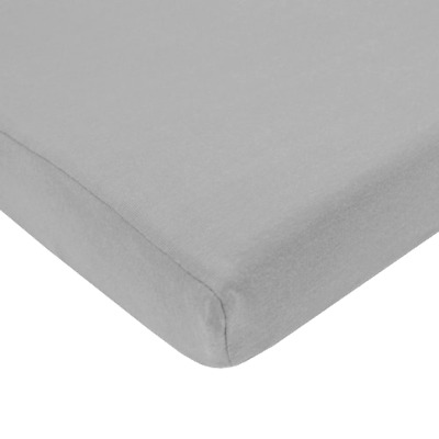 Knit Crib Sheet TL Care Gray Color Cotton Jersey 28 x 52 x 9 Inches with Elastic