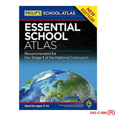 Philip's School Atlases Collection 2 Books Set Philip's Essential,Philip's Moder