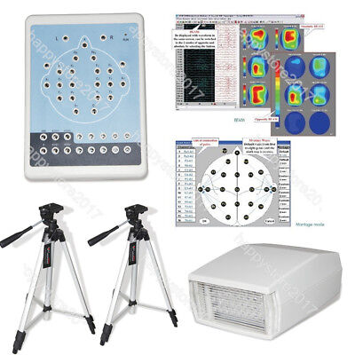 KT88+2 tripods Digital Portable Machine,Mapping System 16-channel EEG PC SW