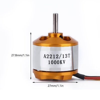 A2212 1000KV Brushless Motor Outrunner Multi-axis Shaft Rotor f/ UAV RC aircraft