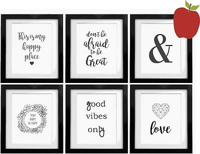 SET OF 6 Inspirational Quote Positive Life Gallery - A4 Print - FREE P&P - QUO2