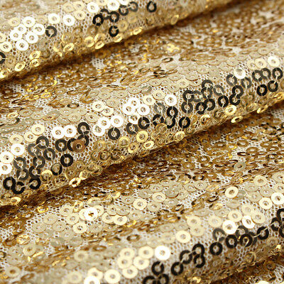 1/2/5/10x Champagne Gold Glitter Sequin Table Runner Sparkly Wedding Party Decor