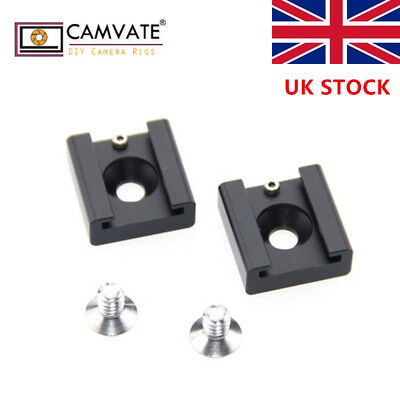 "CAMVATE 2x1/4"" Hot Cold Shoe Mount for Blackmagic DSLR Rig"