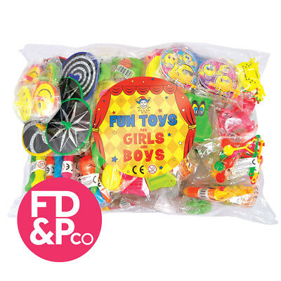 100 Assorted Party Bag Toys - Pinata School Gift Wedding Kids Fillers