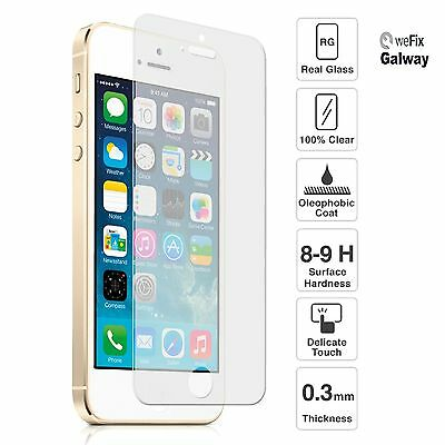 iPhone 5/5S/5C/5SE Premium Tempered Glass Screen Protector 9H 0.33mm 2.5D