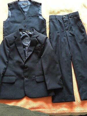 Boys Navy Blue Wedding Formal Suit Age 3-4