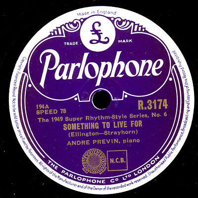 ANDRE PREVIN -Piano-  Something to live for / I got it bad and that....  X1873