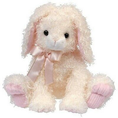 TY Classic Hareston Bunny Curly TySilk Plush Stuffed Animal Retired  2004