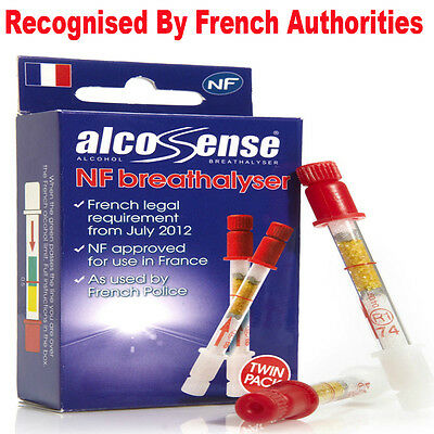 Disposable Alcohol Breathalyser Certified Breath Kit France French (NF) Approved