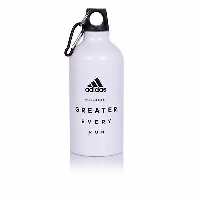 Adidas Unisex Blanco Greater Every Run Metal Botella Agua Correr Running Deporte