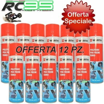 0890117 Pulitore Freni Spray 500Ml Wurth Sgrassatore Kart Kit 12 Pezzi