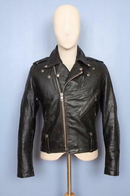 Superb Vtg 1950s HARLEY DAVIDSON Horsehide Leather Motorcycle Jacket Size Small
