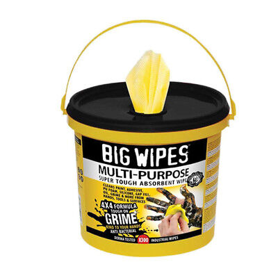 Big Wipes BGW2417 4x4 Multi-Purpose Cleaning Wipes Bucket of 300