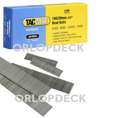 1000 Tacwise 20mm x 18 gauge Brad Nails for Electric Staplers & Tack Guns