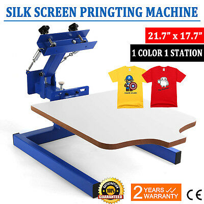 1 Color Screen Printing Press Kit Machine 1 Station Silk Screening Pressing DIY