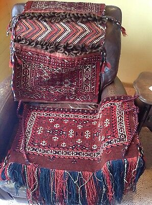 Central Asia Turkmen Wool Saddle Bag And Tent Bag