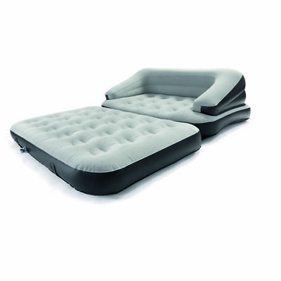 Multi Functional Sofa Double Bed Charcoal-Grey Inflatable Couch Camping Comfy