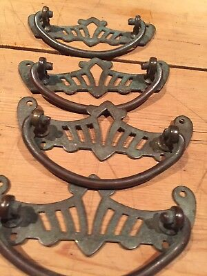 Vintage Brass Chest Handles
