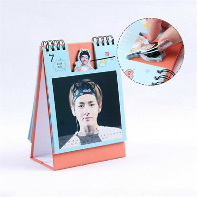 2018 Kpop BTS Bangtan Boys V Mini Picture Photo Album Decor   Desk Calendar